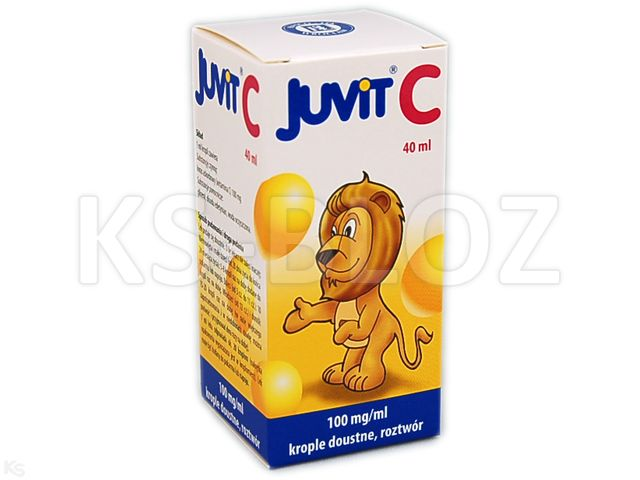 Juvit C interakcje ulotka krople doustne 0,1 g/ml 40 ml