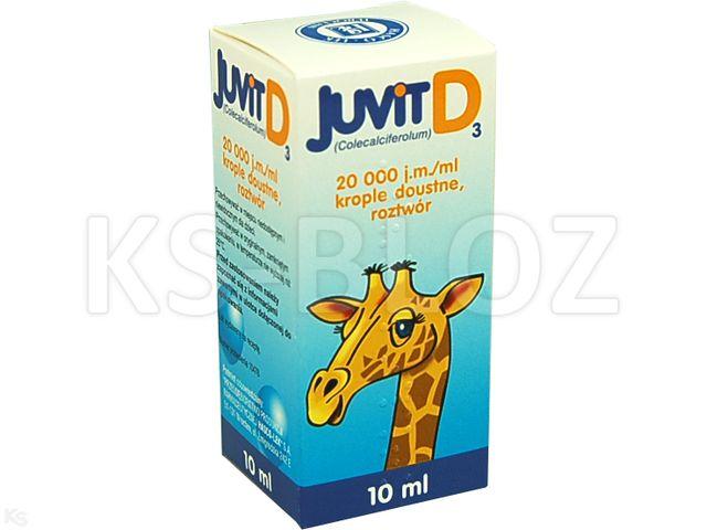 Juvit D3 interakcje ulotka krople doustne, roztwór 20 000 j.m./ml 10 ml