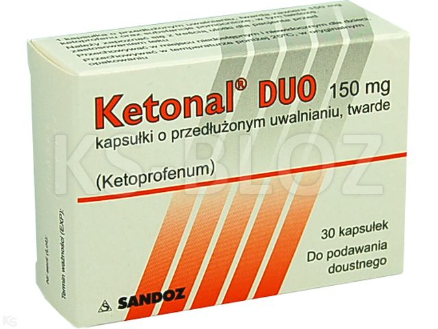 Ketonal Duo interakcje ulotka kapsułki o przedłużonym uwalnianiu 0,15 g 30 kaps.