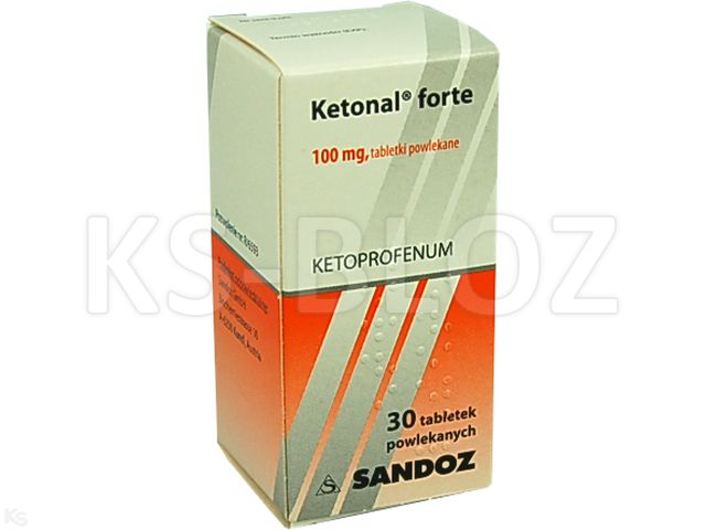 Ketonal forte interakcje ulotka tabletki powlekane 0,1 g 30 tabl.