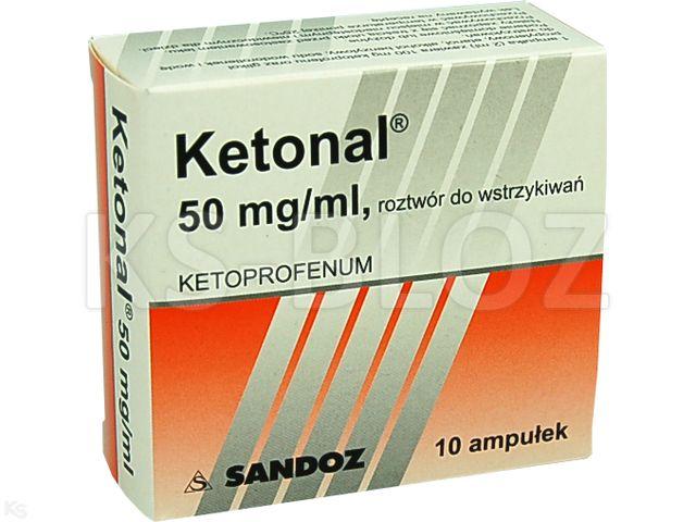 Ketonal interakcje ulotka roztwór do wstrzykiwań 0,05 g/ml 10 amp. po 2 ml