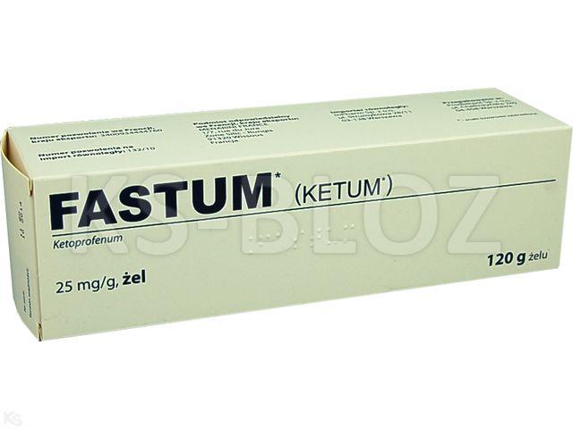 Ketoprofenum Fastum interakcje ulotka żel 0,025 g/g 120 g