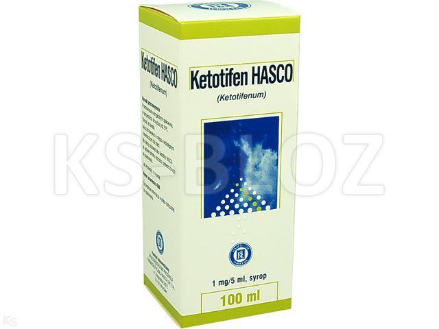 Ketotifen Hasco interakcje ulotka syrop 1 mg/5ml 100 ml