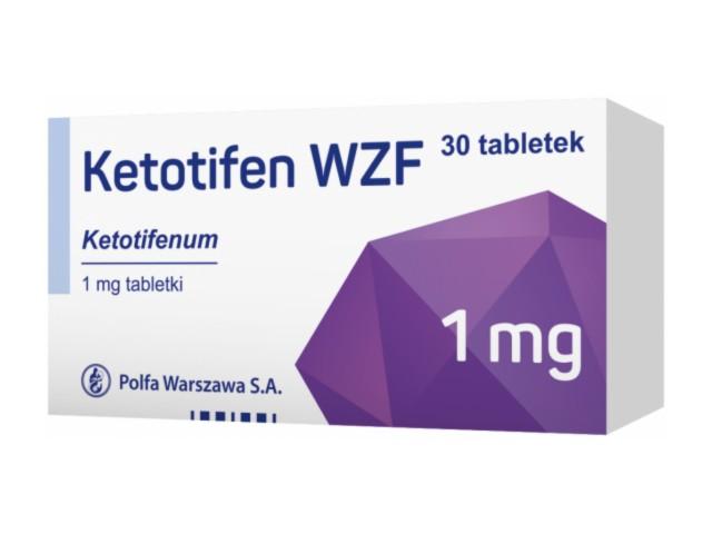 Ketotifen WZF interakcje ulotka tabletki 1 mg 30 tabl.