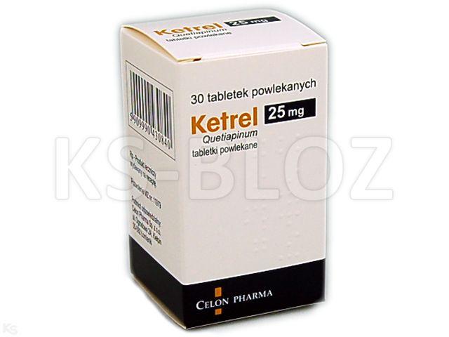 Ketrel interakcje ulotka tabletki powlekane 0,025 g 30 tabl.