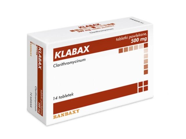 Klabax interakcje ulotka tabletki powlekane 0,5 g 14 tabl.