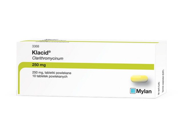 Klacid interakcje ulotka tabletki powlekane 0,25 g 10 tabl.