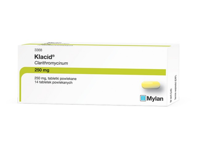 Klacid interakcje ulotka tabletki powlekane 0,25 g 14 tabl.