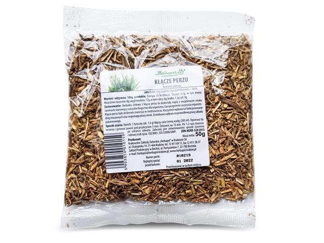 Kłącze Perzu Herbatka ziołowa interakcje ulotka zioła do zaparzania  50 g