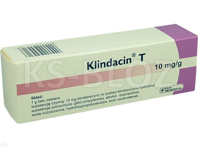 Klindacin T interakcje ulotka żel 0,01 g/g 30 g