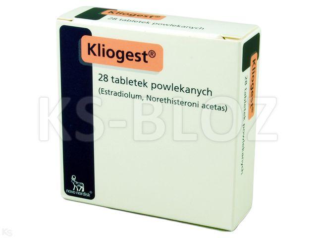 Kliogest interakcje ulotka tabletki powlekane 2mg+1mg 28 tabl.