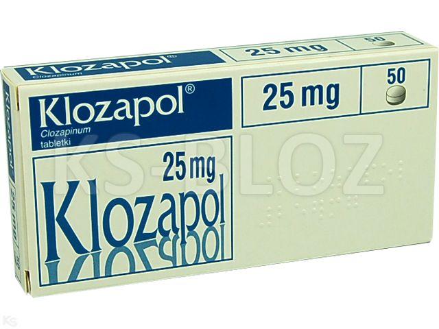 Klozapol interakcje ulotka tabletki 0,025 g 50 tabl.