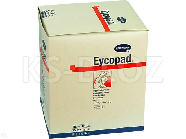 Kompresy oczne jał.EYCOPAD 70mm x 85mm interakcje ulotka   25 szt.
