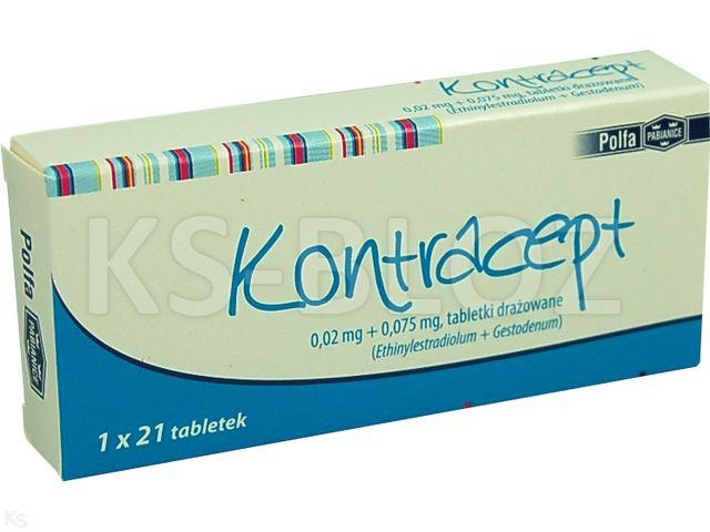 Kontracept interakcje ulotka tabletki drażowane 0,02mg+0,075mg 21 tabl.