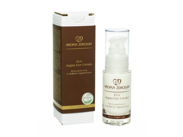 KROPLA ZDROWIA Eco Argan Eye Cream Krem pod oczy z olejkiem arganowym interakcje ulotka   30 ml