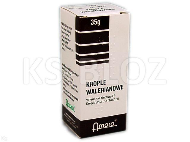Krople walerianowe interakcje ulotka krople doustne  35 g