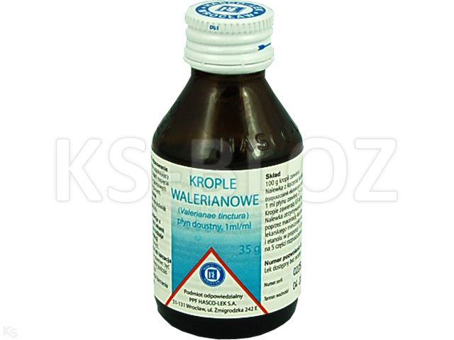 Krople walerianowe interakcje ulotka płyn doustny  35 g