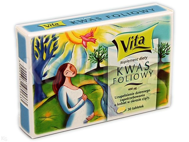 Kwas Foliowy Vita interakcje ulotka tabletki 0,4 mg 30 szt.