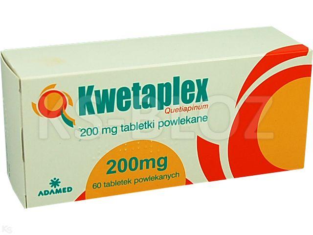 Kwetaplex interakcje ulotka tabletki powlekane 0,2 g 60 tabl.