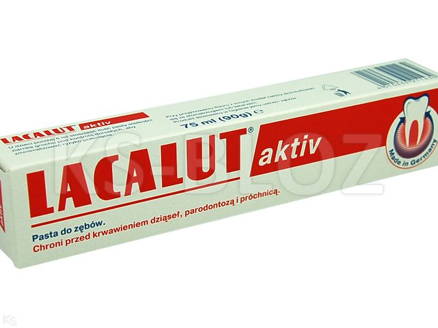 LACALUT Past.d/zęb. Aktiv p/parad.i próch. interakcje ulotka   75 ml