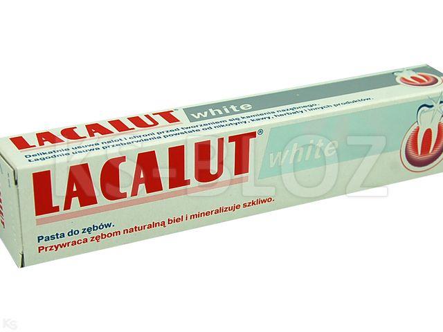 Lacalut white Pasta d/zęb. interakcje ulotka   75 ml