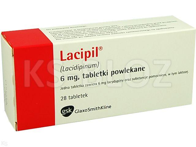 Lacipil interakcje ulotka tabletki powlekane 6 mg 28 tabl.