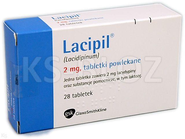 Lacipil interakcje ulotka tabletki powlekane 2 mg 28 tabl.