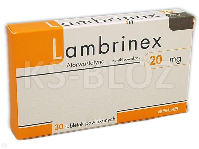 Lambrinex interakcje ulotka tabletki powlekane 0,02 g 30 tabl.