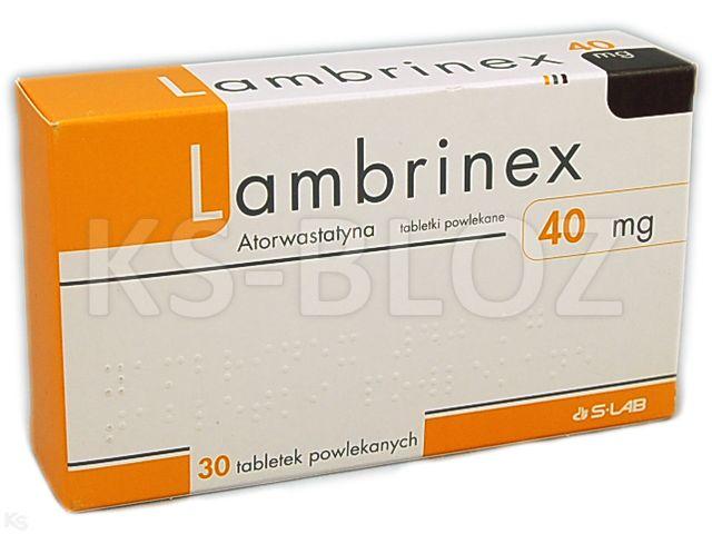 Lambrinex interakcje ulotka tabletki powlekane 0,04 g 30 tabl.