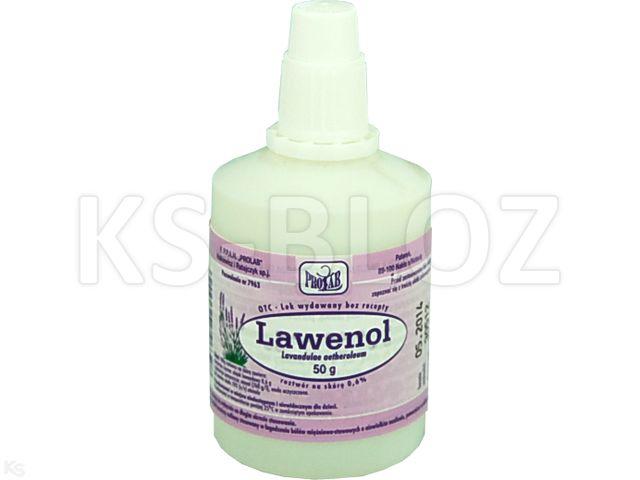 Lawenol interakcje ulotka roztwór do stosowania na skórę 0,6 % 50 g