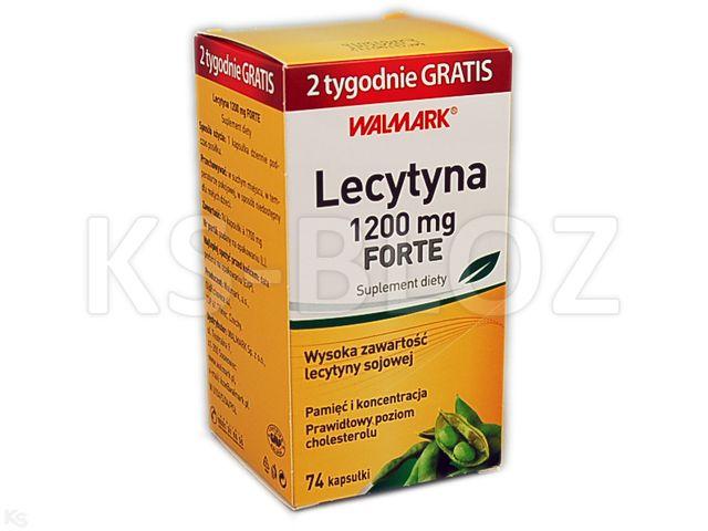 Lecytyna 1200 mg Forte interakcje ulotka kapsułki  74 szt.