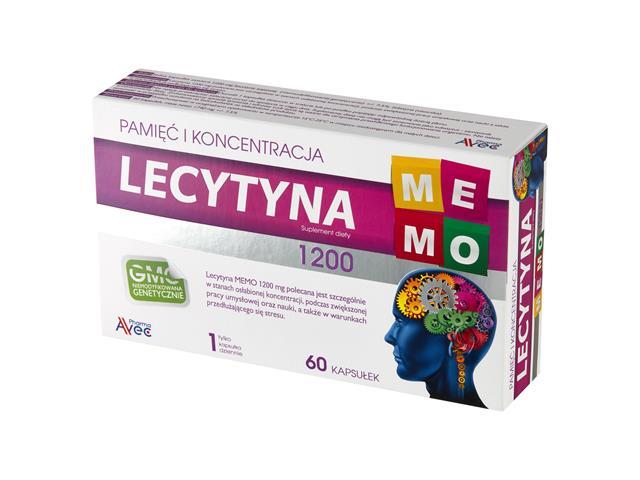 Lecytyna MEMO 1200 interakcje ulotka kapsułki miękkie 1,2 g 60 kaps.