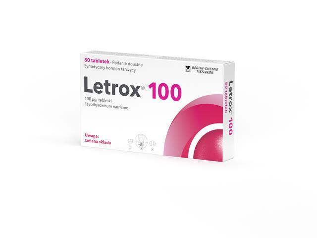Letrox 100 interakcje ulotka tabletki 0,1 mg 50 tabl.