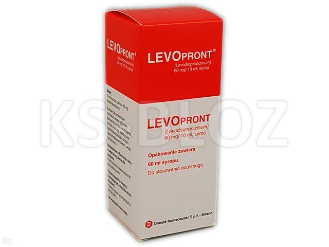 Levopront interakcje ulotka syrop 0,06 g/10ml 60 ml