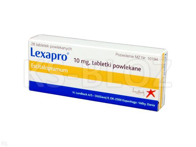 Lexapro interakcje ulotka tabletki powlekane 0,01 g 28 tabl. | 2 blist.po 14 szt.