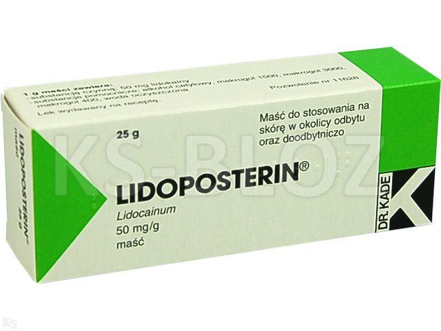 Lidoposterin interakcje ulotka maść doodbytnicza 0,05 g/g 25 g