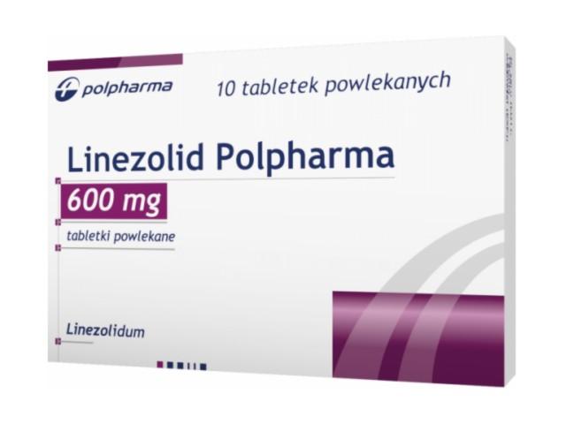 Linezolid Polpharma interakcje ulotka tabletki powlekane 0,6 g 10 tabl.