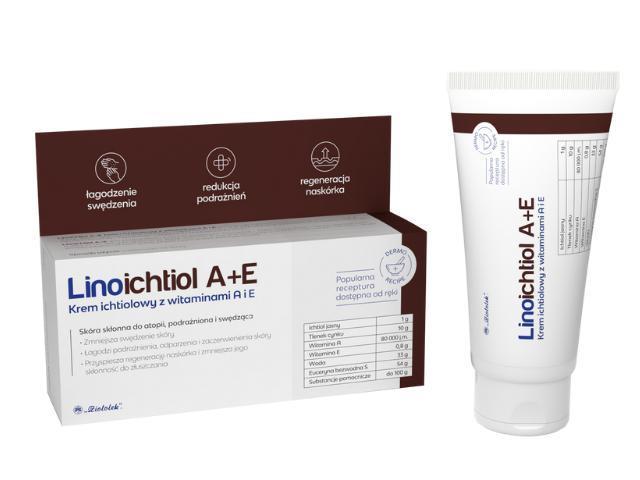 LINOICHTIOL A+E Krem ichtiolowy z witamin.A i E interakcje ulotka   50 g
