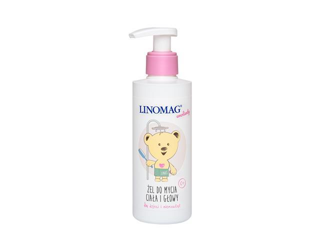 LINOMAG Żel d/mycia ciała głowy d/dzieci/niem. interakcje ulotka   200 ml