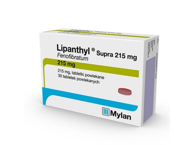 Lipanthyl Supra 215 interakcje ulotka tabletki powlekane 0,215 g 30 tabl.