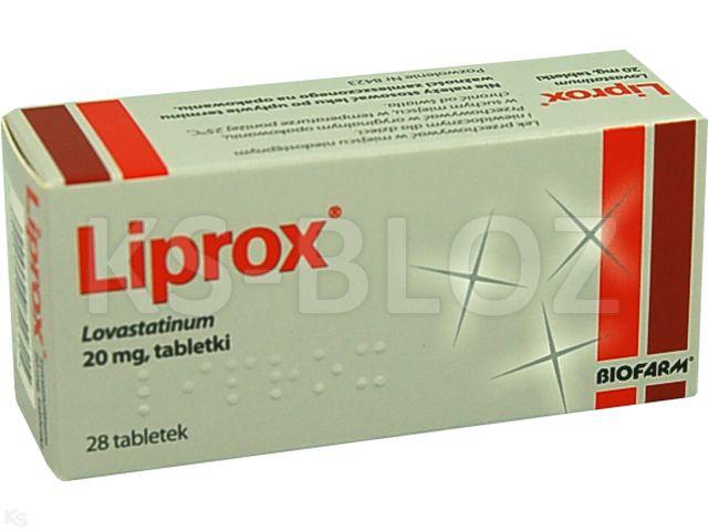 Liprox interakcje ulotka tabletki 0,02 g 28 tabl.