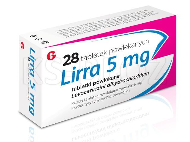 Lirra interakcje ulotka tabletki powlekane 5 mg 28 tabl.