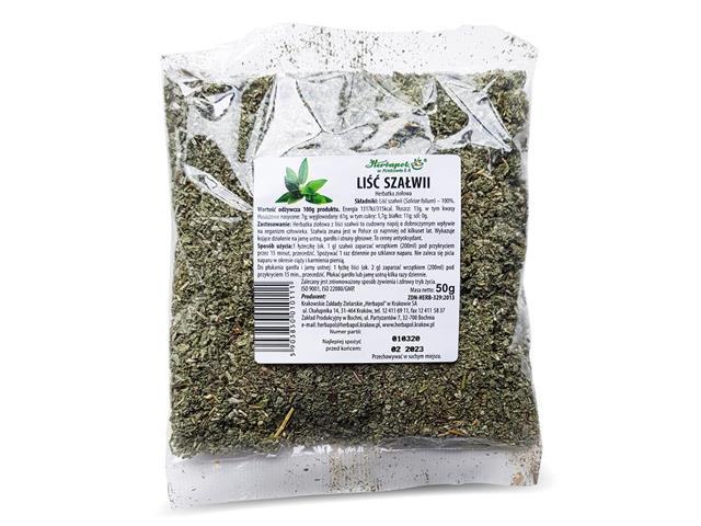 Liść Szałwii Herbatka ziołowa interakcje ulotka   50 g