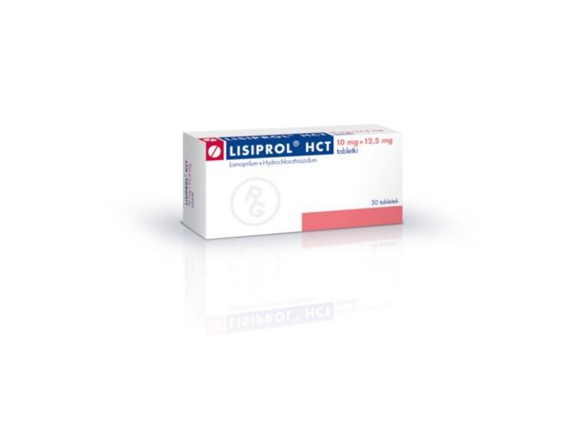 Lisiprol HCT interakcje ulotka tabletki 0,01g+0,0125g 30 tabl.