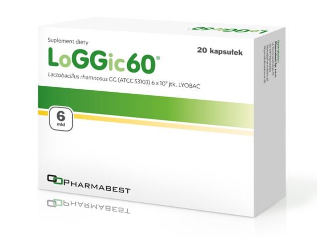 LoGGic60 interakcje ulotka kapsułki  20 kaps.