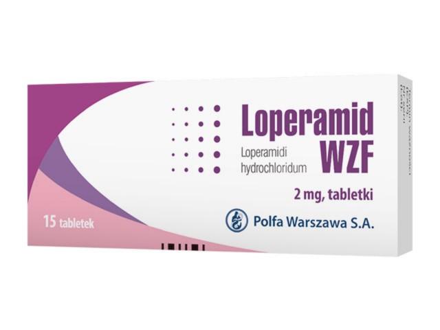 Loperamid WZF interakcje ulotka tabletki 2 mg 15 tabl.
