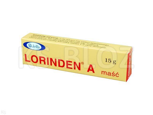 Lorinden A interakcje ulotka maść (0,03g+0,2mg)/g 15 g