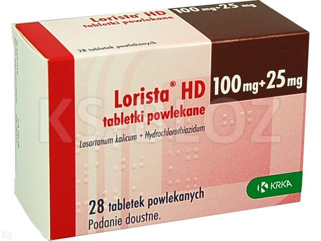 Lorista HD interakcje ulotka tabletki powlekane 0,1g+0,025g 28 tabl.