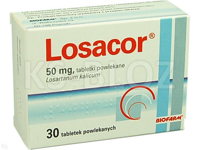 Losacor interakcje ulotka tabletki powlekane 0,05 g 30 tabl.