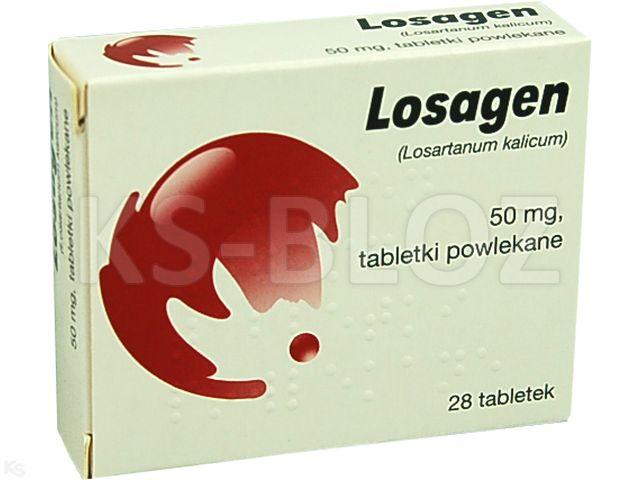 Losagen interakcje ulotka tabletki powlekane 0,05 g 28 tabl. | 2 blist.po 14 szt.